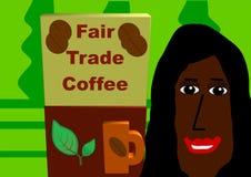 Café do comércio justo Fotografia de Stock Royalty Free