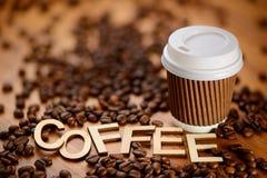 Café do copo de papel imagem de stock