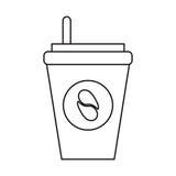café do copo de papel a ir esboço Fotografia de Stock