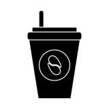 café do copo de papel a ir pictograma Fotografia de Stock