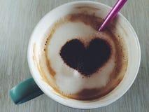 Café do coração Imagens de Stock Royalty Free