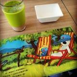 Café do café da manhã atrasado Fotografia de Stock