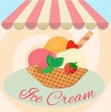 Café do gelado Imagem de Stock Royalty Free
