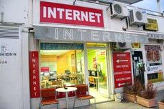 Café do Internet em Croatia Fotos de Stock