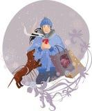 Café do inverno Imagens de Stock