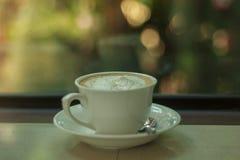 café do latte no fundo Fotos de Stock Royalty Free