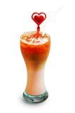 Café do macchiato de Latte com xarope do grenadine Fotografia de Stock