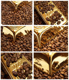 Café do ouro Fotos de Stock Royalty Free