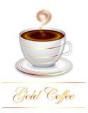 Café do ouro ilustração do vetor
