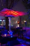 Café do passeio no inverno Imagens de Stock Royalty Free