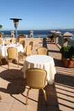 Café do perto do oceano Fotos de Stock Royalty Free