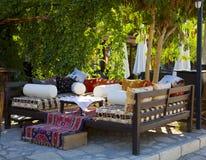 Café do porto de Kalkan foto de stock royalty free