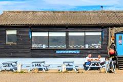 Café do porto no porto de Southwold Foto de Stock