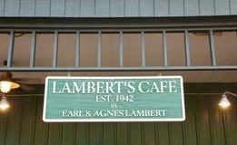 Café do ` s de Lamberto, Missouri Imagem de Stock