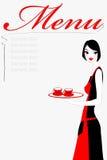 Café do serviço da empregada de mesa Imagem de Stock