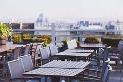Café do telhado em Europa Fotos de Stock Royalty Free
