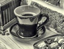 Café, doces, moedor de café Ainda vida 1 Imagem de Stock Royalty Free