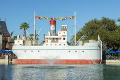 Café Dockside, Disney World, curso, estúdios de Hollywood imagem de stock royalty free