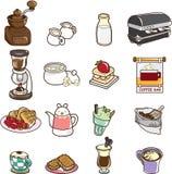 Café dos desenhos animados Imagens de Stock Royalty Free