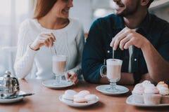 Café Doux-substance Sucrerie Types dans l'amour bonbons image stock