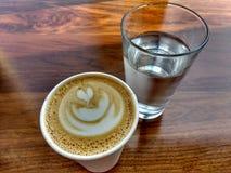 Café e água Fotografia de Stock