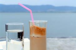 Café e água Imagens de Stock Royalty Free