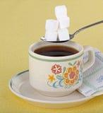 Café e açúcar Imagem de Stock Royalty Free