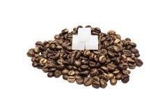 Café e açúcar Fotos de Stock Royalty Free