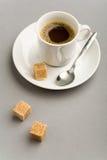 Café e açúcar Imagens de Stock Royalty Free