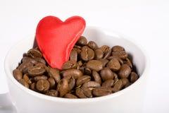 Café e amor Fotos de Stock Royalty Free