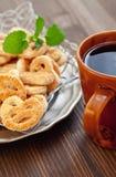 Café e biscoitos fotografia de stock royalty free