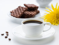 Café e biscoitos imagem de stock