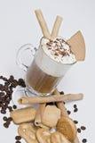 Café e bolinhos. Imagens de Stock