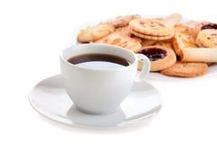 Café e bolinhos fotografia de stock royalty free