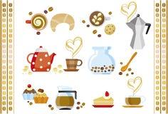 Café e bolo Foto de Stock Royalty Free