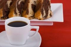 Café e bolo Fotografia de Stock Royalty Free