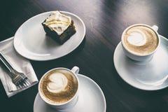 Café e bolo fotos de stock royalty free