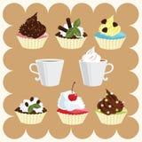 Café e bolos Fotos de Stock