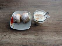 Café e bolos foto de stock royalty free