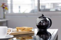 Café e café da manhã da manhã Fotografia de Stock Royalty Free