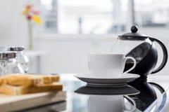Café e café da manhã da manhã Foto de Stock Royalty Free