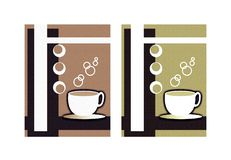 Café e chá Ilustração Royalty Free