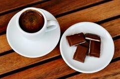 Café e chocolate Imagens de Stock Royalty Free