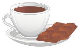 Café e chocolate ilustração stock