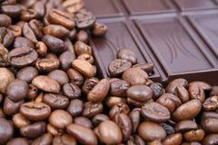 Café e chocolate Fotos de Stock Royalty Free