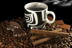 Café e chocolate Fotos de Stock