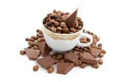 Café e chocolate Imagem de Stock Royalty Free