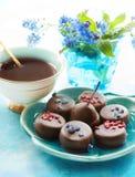 Café e chocolates Imagens de Stock