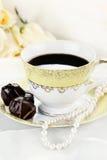 Café e chocolates foto de stock
