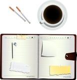 Café e cigarros ilustração royalty free